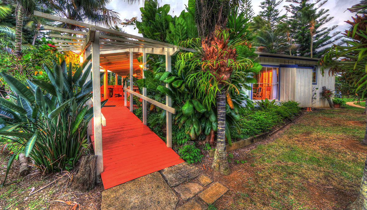 Entrance to 3 bedroom holiday house